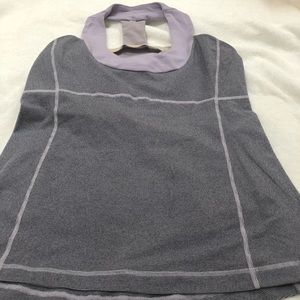 Lululemon workout top with support bra size 10